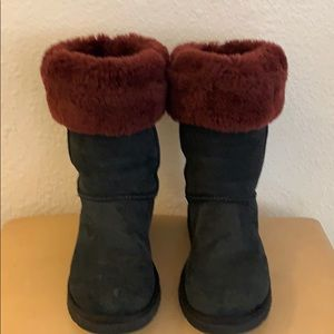 UGG AUSTRALIA SUEDE SHEARLING BOOTS SIZE 8